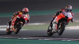 Dovizioso Kalahkan Marquez di MotoGP Qatar, Rossi Ketiga
