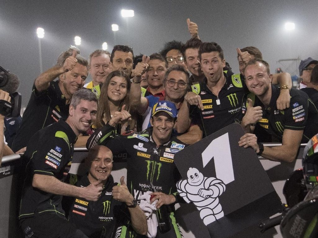 Aksi Para Pebalap di Kualifikasi MotoGP Qatar