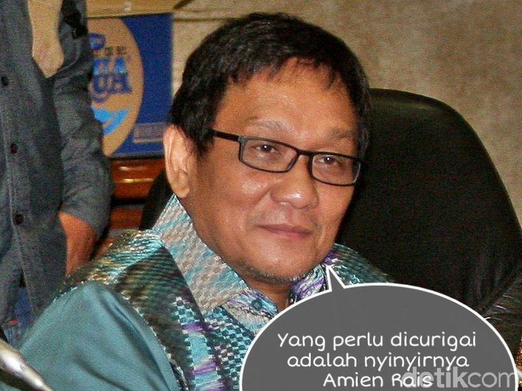 Ketua Fraksi Hanura Inas Nasrullah Zubir mengatakan Amien nyinyir ke Jokowi dan itu patut dicurigai.