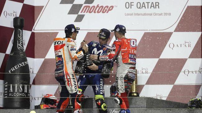 Rossi Merasa Minder Balapan dengan Marquez dan Dovizioso