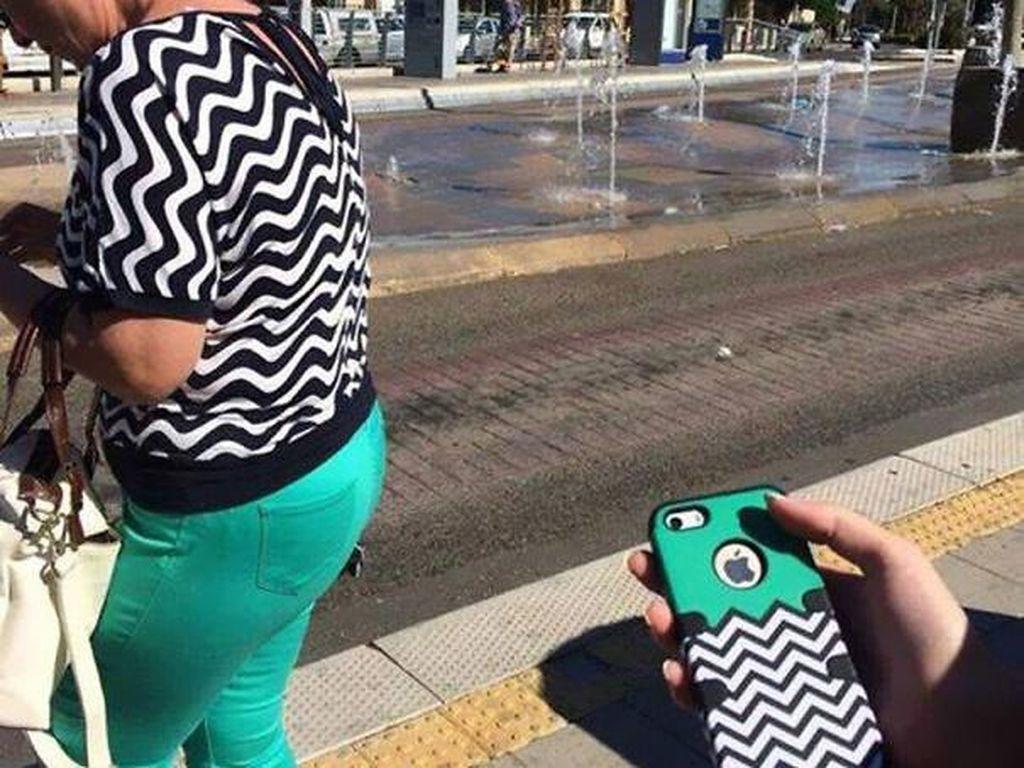 Pakaian mirip casing iPhone. Foto: boredpanda