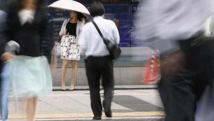 Bursa saham utama kawasan Asia melesat pada perdagangan pertama di bulan Desember.