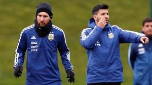 FOTO: Lionel Messi Latihan di Markas Manchester City