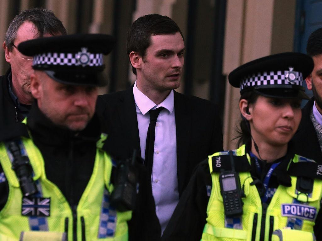 Adam Johnson (pemain tengah). Pada tahun 2016 lalu mantan pemain timnas Inggris yang kini berusia 30 tahun itu divonis penjara enam tahun karena melakukan aktivitas seksual dengan remaja di bawah umur. (Foto: Nigel Roddis/Getty Images)