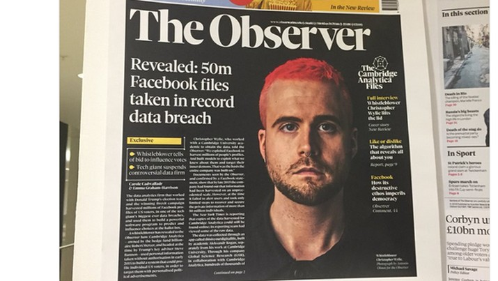 Apa Kabar Whistleblower Skandal Data FB, Christopher Wylie?