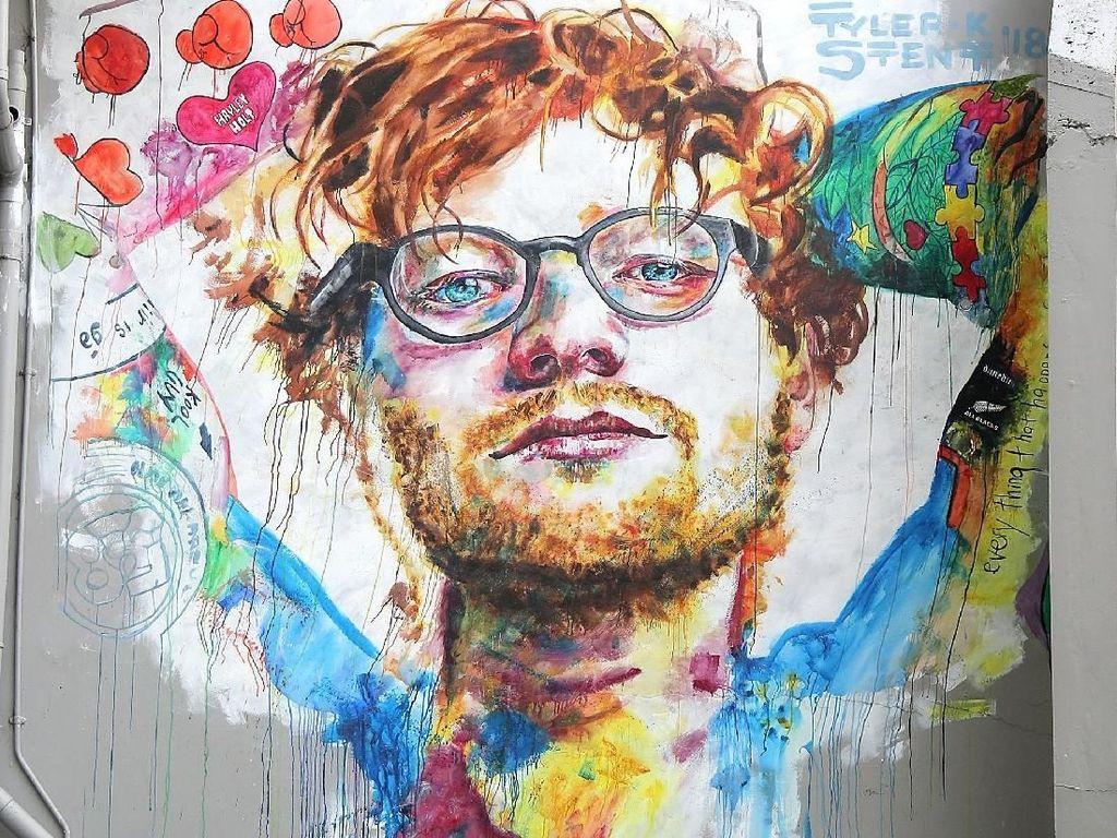 Mural Ed Sheeran yang Keren di Selandia Baru