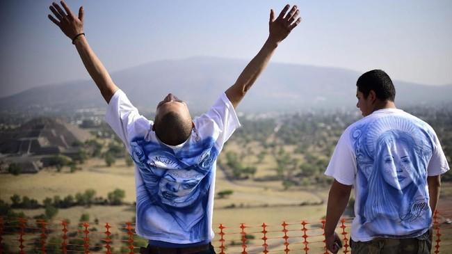Kawasan Teotihuacan diperkirakan mulai dibangun pada 300 SM dengan puncak kejayaan pada 300-600 Masehi. (AFP PHOTO / Pedro PARDO)