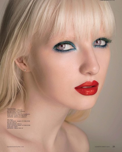 Foto: Nastya Zhidkova, Albino Bermata Indah yang Sukses Jadi Model