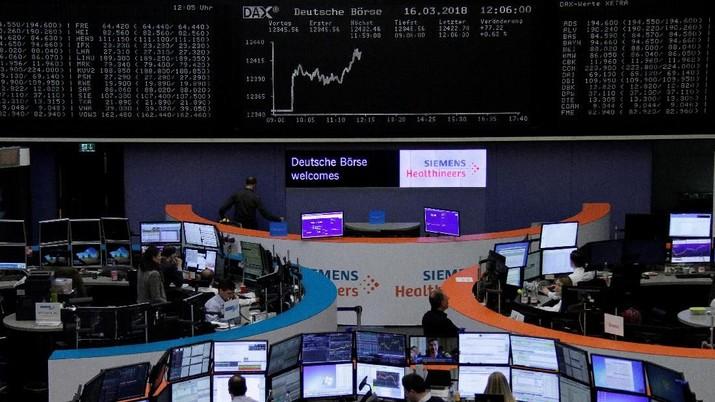 Konflik politik di Italia yang mulai reda membuat bursa saham benua biru tersebut bergerak ke arah positif.