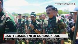 TNI Gelar Bakti Sosial di Gunungkidul