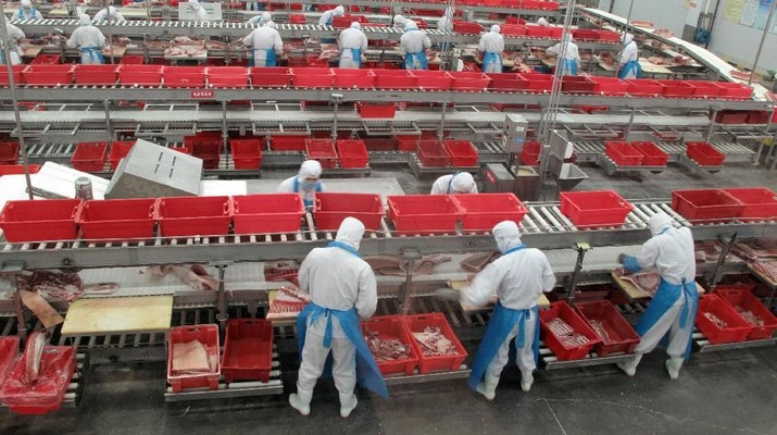 Produsen Daging Babi China Dapat Angin dari Perang Dagang AS
