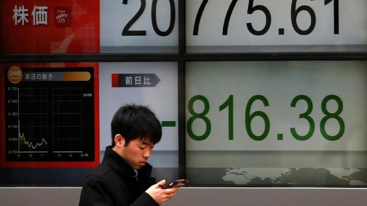 Bursa Tokyo Anjlok Respons Sentimen Geopolitik