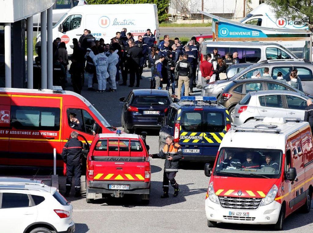 Foto: Suasana Usai Penyandera di Supermarket Prancis Ditembak Mati