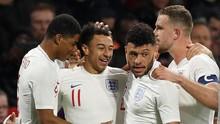Gol Debut Lingard Akhiri Rekor Buruk Inggris