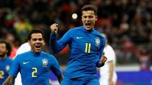 Tanpa Neymar, Brasil Kalahkan Rusia 3-0