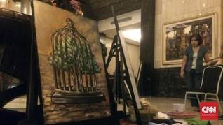 5 Seniman Melukis dalam Gelap di Peringatan 'Earth Hour'
