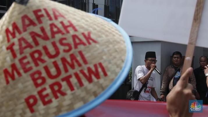 Aksi Warga Bintaro Tangsel Tuntut Hak Milik Tanah