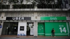 Singapura Denda Rp137 M Atas Akuisisi Uber-Grab
