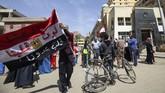 Mesir menggelar pemilihan presiden yang diperkirakan bakal dimenangkan dengan mudah oleh petahana Presiden Abdel Fattah El-Sisi. (AFP PHOTO/MOHAMED EL-SHAHED)