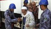 Petahana El-Sisi diperkirakan menang mudah lantaran hanya memiliki satu pesaing. (AFP PHOTO / STRINGER)