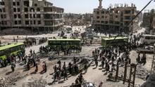 Ribuan Warga Dua Kota Pro-Pemerintah Suriah Dievakuasi