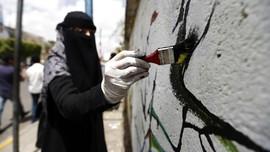 FOTO: Goresan Harapan Perdamaian di Sudut Yaman