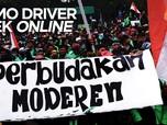 VIDEO : Demo Besar-besaran Driver Ojek Online Demi Tarif