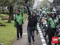 Jalan Medan Merdeka Barat Jadi Parkir Motor Demo Ojek Online