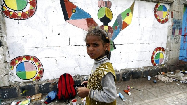 Yaman merupakan salah satu negara yang masih berkutat dengan konflik bersaudara. Perang saudara itu bermula pada 2010. (AFP PHOTO / Mohammed HUWAIS)