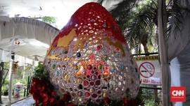 Telur Raksasa Rasa 'Bhineka' Meriahkan Paskah di Katedral