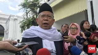 Ma'ruf Amin Ajak Investor Temui Jokowi di Istana