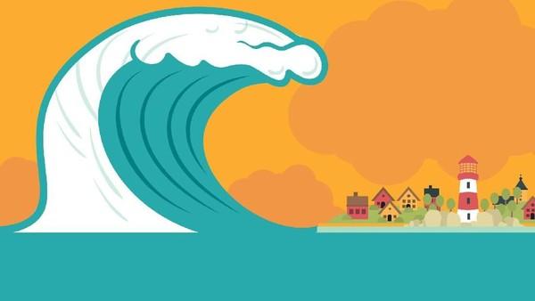 Potensi Tsunami 57 Meter
