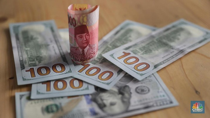 Rupiah menguat 0,26% dibandingkan dengan posisi penutupan perdagangan hari sebelumnya.