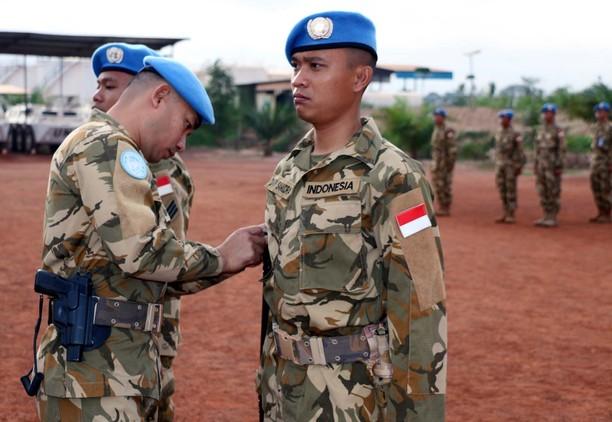 11 Prajurit TNI Konga XXXVII-D Naik Pangkat di Republik Afrika Tengah