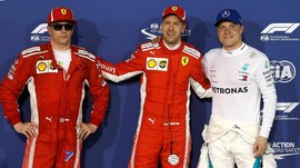 Sebastian Vettel Rebut Pole F1 GP Bahrain
