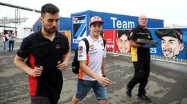 Trek Tak Rata, Marquez Jatuh di Latihan Bebas MotoGP Amerika