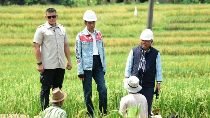 Gaya busana Presiden Joko Widodo lagi lagi jadi bahan perbincangan hangat netizen, kali ini karena Jaket a la