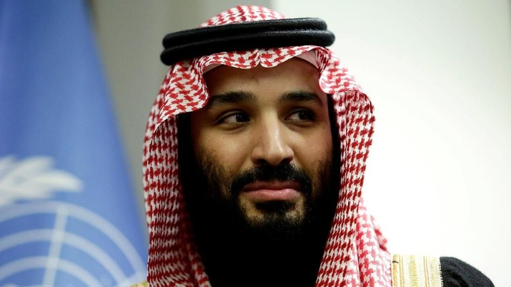 FILE PHOTO: Saudi Arabia's Crown Prince Mohammed bin Salman Al Saud is seen during a meeting with U.N Secretary-General Antonio Guterres at the United Nations headquarters in the Manhattan borough of New York City, New York, U.S. March 27, 2018. REUTERS/Amir Levy