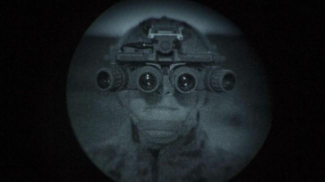 Marinir AS menguji sistem penglihatan optik malam dalam Latihan Angkatan Laut ANTX-18 di Camp Pendleton, California, Amerika Serikat, 20 Maret 2018. (US Marine Corps/Lance Cpl. Rhita Daniel/Handout via REUTERS)