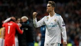 Real Madrid lolos ke semifinal untuk delapan musim beruntun. Mereka membuka peluang untuk jadi juara Liga Champions dalam tiga musim beruntun. (REUTERS/Susana Vera)