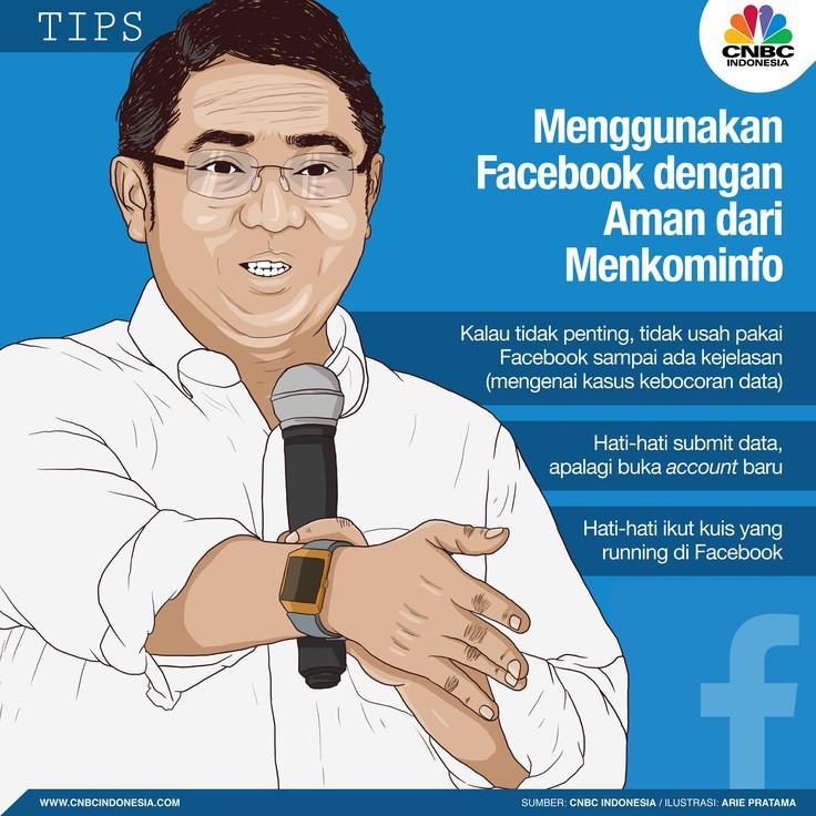 Berikut Tips Gunakan Facebook Aman dari Menteri Rudiantara