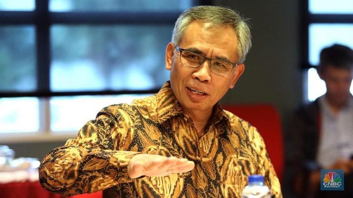 Ketua ojk :Wimboh Santoso (CNBC Indonesia/ Andrean Kristianto)