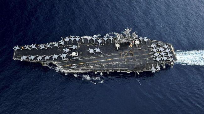 AS Kirim Kapal Induk, Klaim Iran Ancam Pasukan dan Sekutu