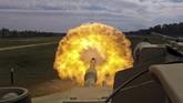 Pasukan Tempur AS berlatih menggunakan tank terbaru M1A1-AS Abrams di Fort Stewart, Georgia, Amerika Serikat, 29 Maret 2018. (US Army/Handout via REUTERS)