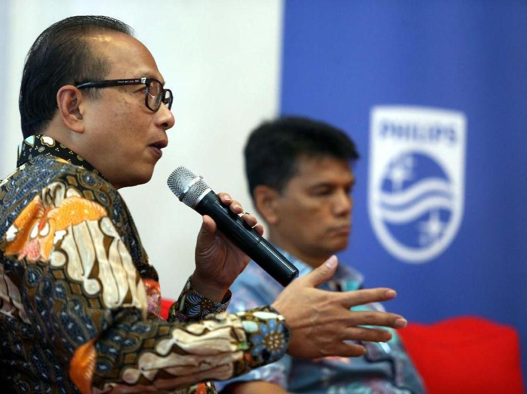 Diskusi tersebut membahas masalah kemajuan teknologi dibidang kesehatan, yakni Telehealth. Pool/Philips Indonesia.