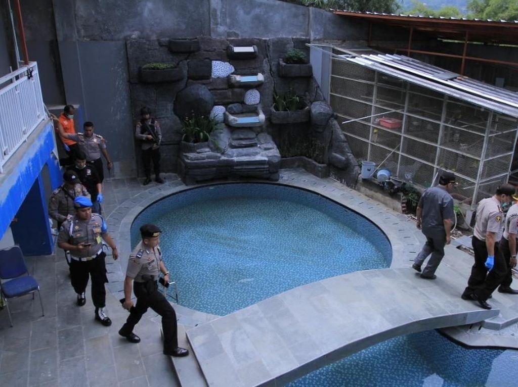 Rumah juga dilengkapi kolam renang. (Foto: Wisma Putra/detikcom)