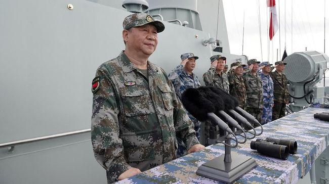 Xi Jinping Pimpin Latihan Militer di Laut China Selatan