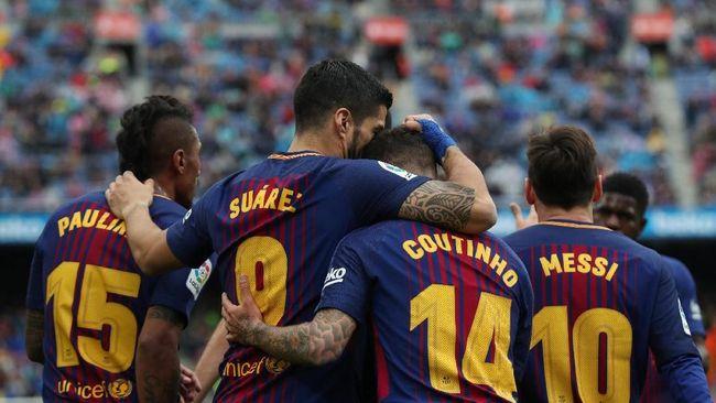 Barcelona Menang 2-1 Atas Valencia