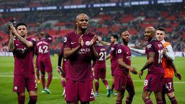 Reaksi Pemain Man City Usai Juara Liga Inggris 2017/2018
