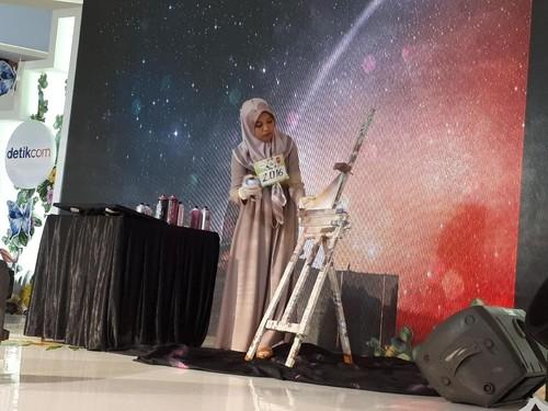 Unik, Hijabers Melukis Pakai Cat Semprot di Audisi Sunsilk Hijab Hunt 2018